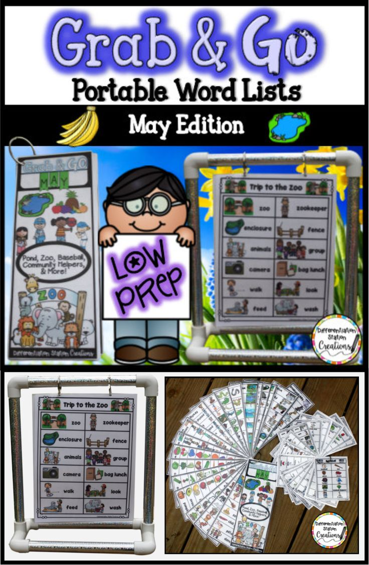 Word walls! Use portable word walls to tons of themes. May word wall explores the zoo, pond, community helpers, baseball, fruit, vegetables, reptiles and amphibians and Cinco de Mayo. Great for building vocabulary!