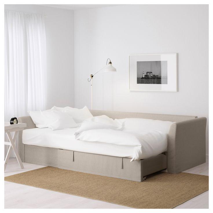 IKEA - HOLMSUND Corner sofa-bed Nordvalla beige