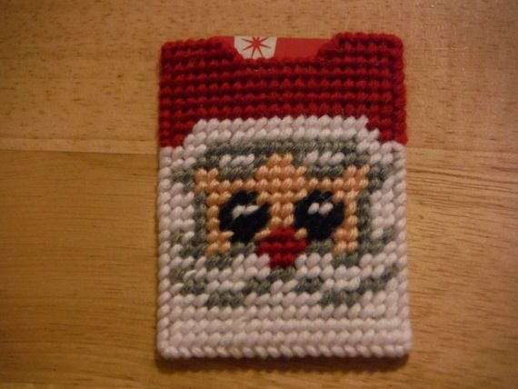 Santa Claus Gift Card Holder Plastic Canvas by ShanaysCreation