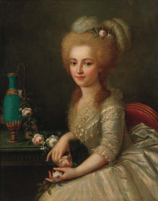 """""""Portrait Of A Young Lady"""" by Antoine Vestier (1740-1824, France)"""
