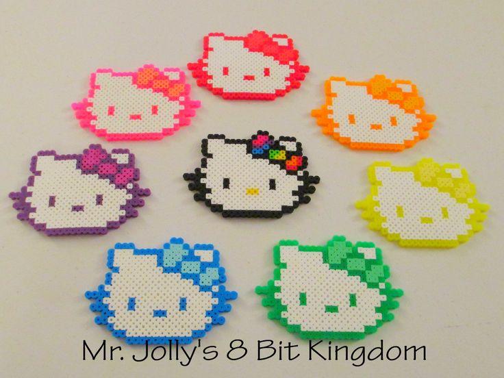 Hello Kitty Busts perler beads by Mr. Jolly's 8 Bit Kingdom
