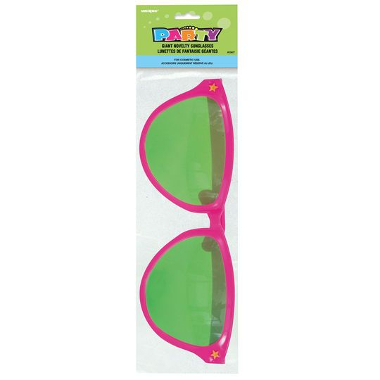 Giant Pink Novelty Sunglasses