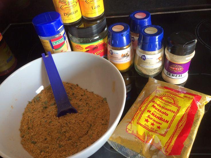 Nasi - Bami kruidenmix maken