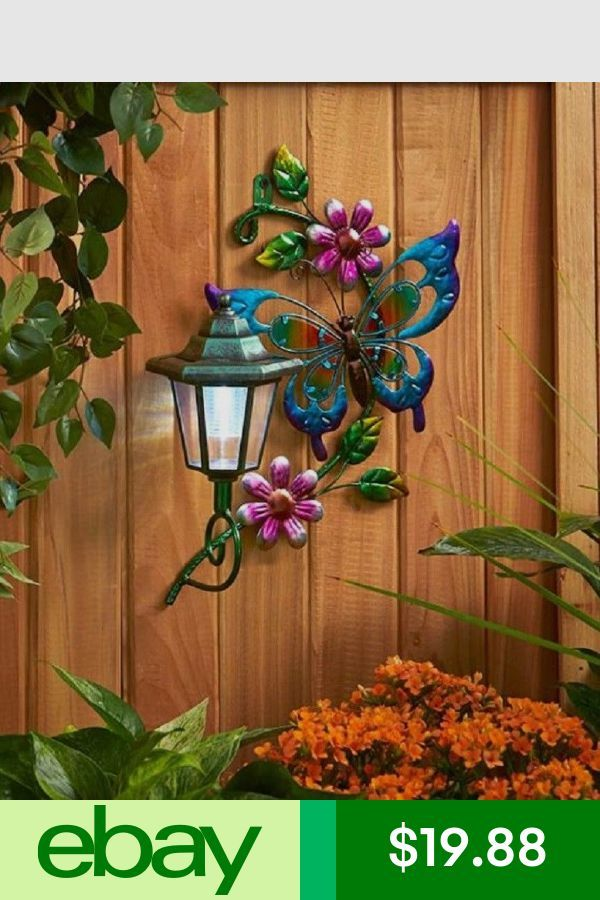 45 Stunning Fence Ideas Easy To Apply To Make Sure Your House Safe Homelovers Patio Wall Art Solar Wall Lights Solar Garden Decor