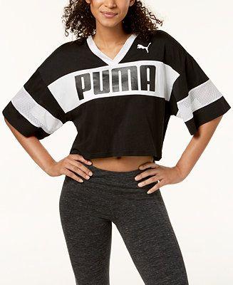 Puma Tops Shirt Macy's T Women Sport Drycell Cropped rBrHq