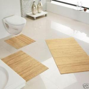 Rutschfeste Badematte, Badteppich, Vorleger aus Bambus in 9 Farben und 6 Größen