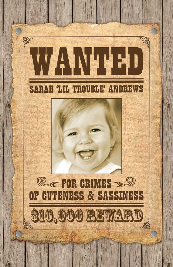 Custom Wanted Poster Wild West