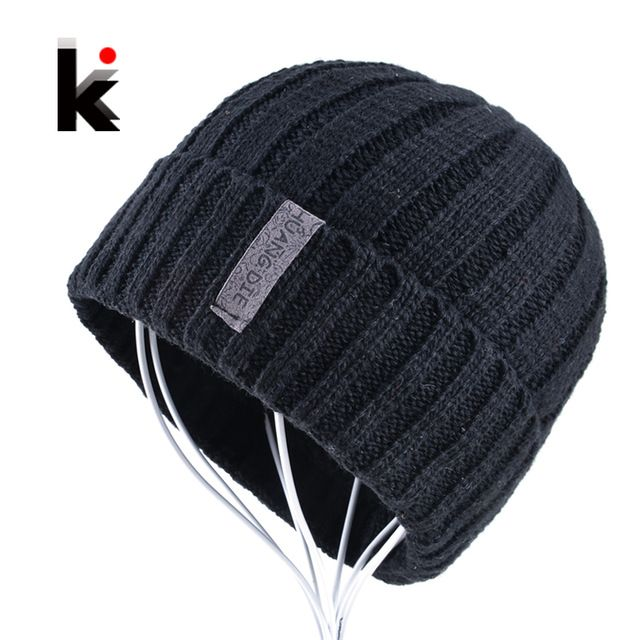 Best Offer $6.95, Buy Mens skullies winter knitted hat beanie hats for men beanies warm bonnet enfant wool cap boy striped casual caps gorro