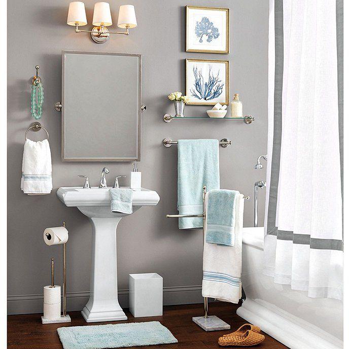 Linen Trim Shower Curtain Bathroom Design Decor Bathroom Decor