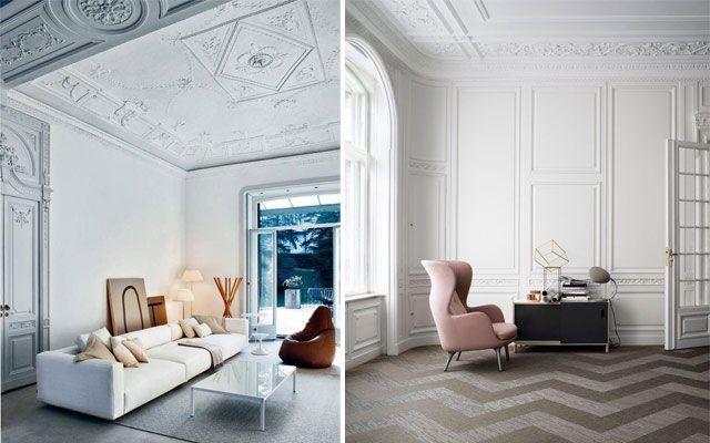 18 best herringbone references images on pinterest floor - Molduras para techos ...