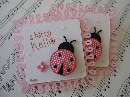 Cute Ladybug Embellishments - | http://creativehandmadecollections.blogspot.com