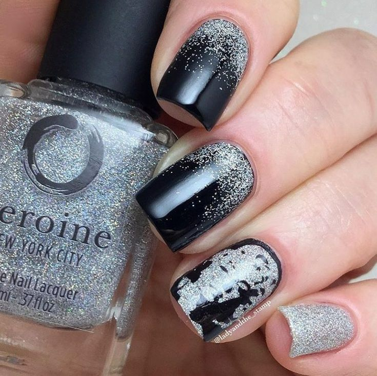 Silver Holographic Glitter Nail Polish – Watch Me Sparkle | heroine.nyc