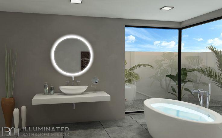 151 Best Illuminated Backlit LED Round Bathroom Mirror LED