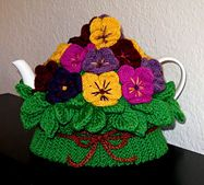Ravelry: Pansy Delight Tea Cozy pattern by Barbara Benedict