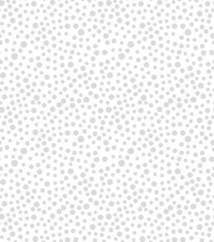 Quilt Block of the Month Coordinating Fabric 43''-White Tonal Dots