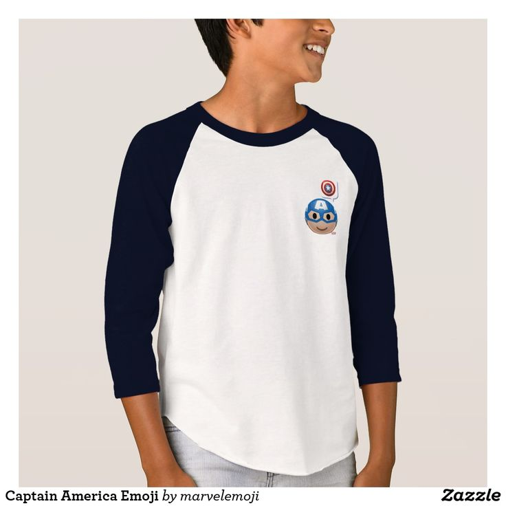 Captain America Emoji. T-Shirt. Producto disponible en tienda Zazzle. Vestuario, moda. Product available in Zazzle store. Fashion wardrobe. Regalos, Gifts. Trendy tshirt. #camiseta #tshir