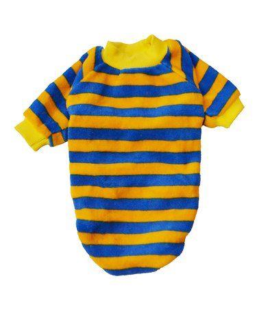 a8d21db8f Look at this  zulilyfind! Blue   Yellow Stripe Dog Tee  zulilyfinds ...
