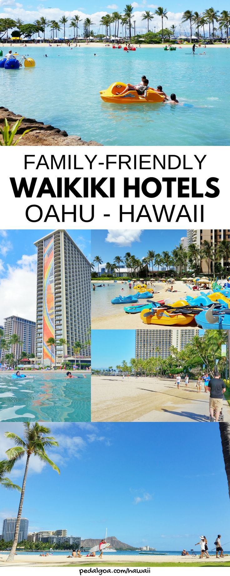 Family-friendly Waikiki hotels in Hawaii: Hilton Hawaiian Village. Family vacation ideas for Waikiki Beach hotels. Even in Hawaii on a budget to save money on cost you can have best resort experience. Kid-friendly activities on Oahu for families, teens. Best Waikiki hotels on Oahu. Water sports rental at lagoon, kayak, surfing lessons, SUP, dinner cruise tours, Friday fireworks! Top US travel destination. Use airbnb Oahu, vacation rental. List: Best things to do on Oahu! #hawaii #oahu…