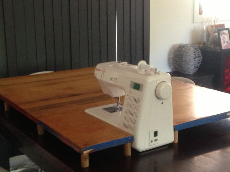 Sewing Machine Extension Table For Those Larger Quilts; Now I Just Need  Someone To Build