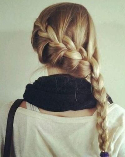 Use this braid to save yourself the headache of trying to make the perfect updo. Take the tail end of your braid. ..twist until it sits against your head where you want it. Place a few pins to hold it...use decorative pins if your bad a hiding your pins. And if your  a pro tuck them away. In seconds you have a simple pretty classy updo.