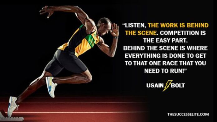35 Lightening Usain Bolt Motivational Quotes The Success Elite Usain Bolt Quotes Athlete Quotes Usain Bolt
