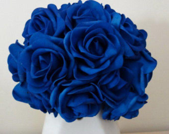 VANRINA bleu Royal fleurs artificielles mariage fleurs en gros 200 têtes/tiges pour les Bouquets de mariée mariage décoration, centres de table de mariage
