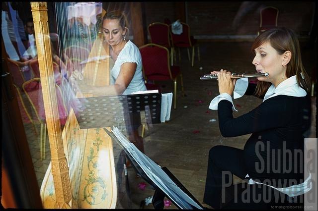 duet ślub harfa flet
