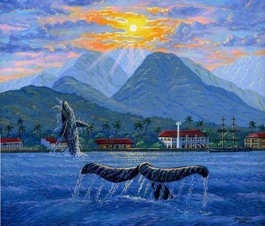 Whale Ocean Mountain by Ben Saber