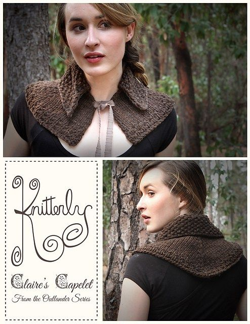 Claire's Capelet Knitting Pattern Outlander Inspired Knitting Impressive Outlander Crochet Patterns