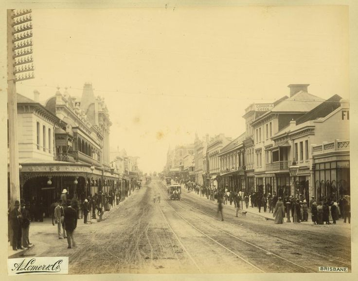 Looking down queens St 1889.