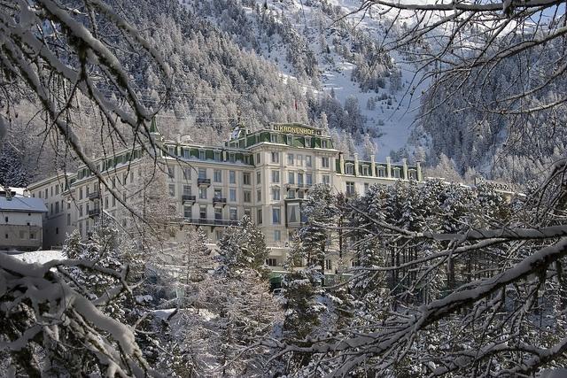 Grand Hotel Kronenhof di Pontresina, Alta Engadina, Suécia