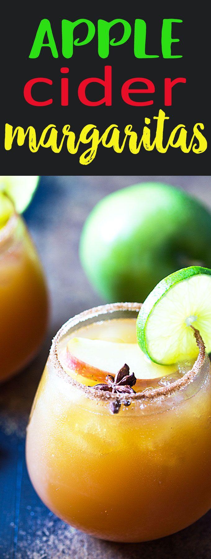 Apple Cider Margaritas - So sweet, tart and dangerously refreshing!