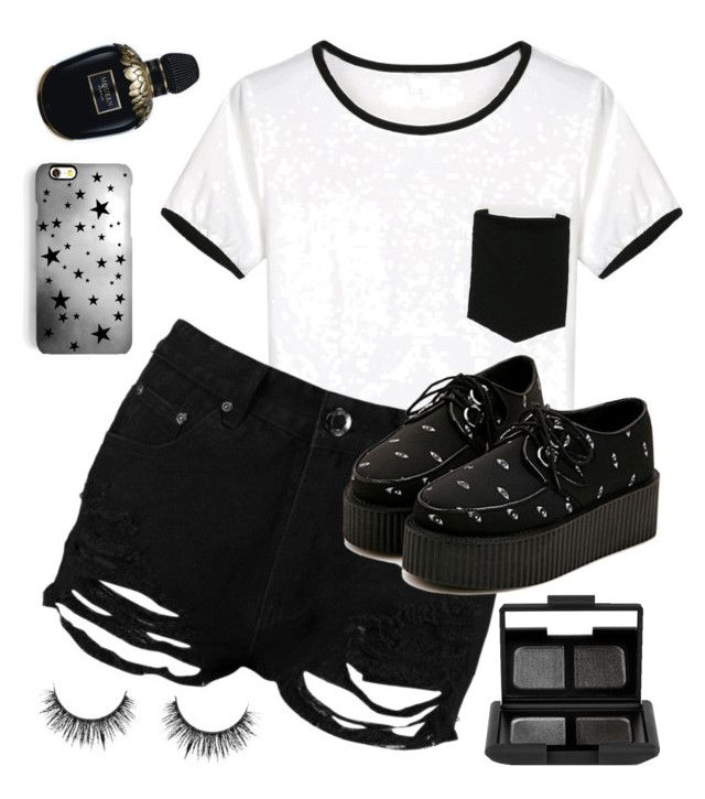 """""""Urban Summer."""" by glowprince on Polyvore featuring WithChic, Rianna Phillips, Boohoo, Alexander McQueen and NARS Cosmetics"""