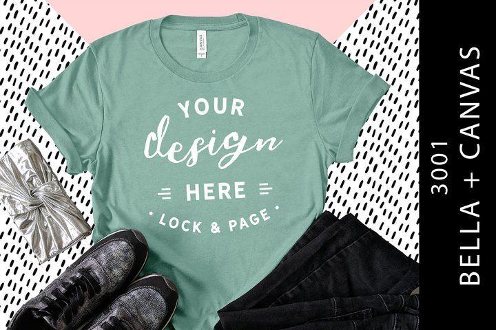 Download Heather Dusty Blue Bella Canvas 3001 T Shirt Mockup Girls 163716 Mockups Design Bundles In 2021 Design Mockup Free Shirt Mockup Tshirt Mockup