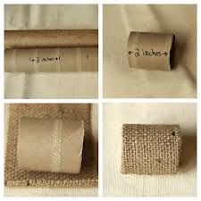 By Guest Blogger Niki, with Buttons Galore and More Materials to create eco chic button napkin rings: Empty Paper Towel Rolls Marker Burlap Twine Fabri-T