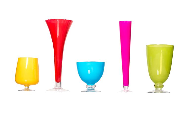 UFO FURNITURE These glass vases are made in Poland and available in all shapes and these colours! Call them on 014 537 2761.