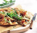 5 pizza met gegrilde kip