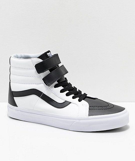 ab5a19c3e0 Vans Sk8-Hi Tumble Reissue V Black   White Skate Shoes in 2019 ...