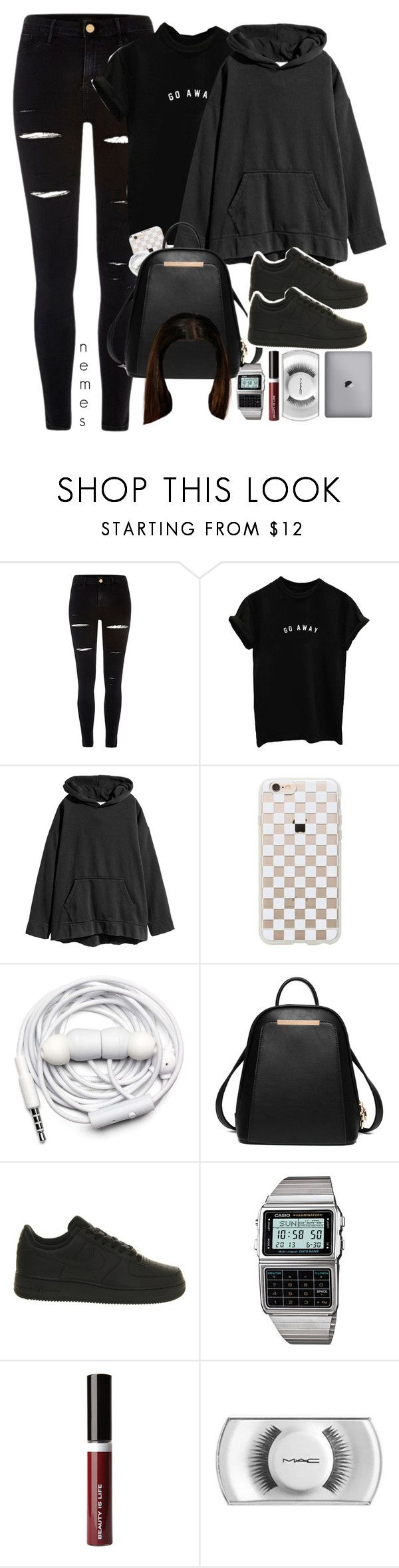 """Mr. Robot (series)"" by nemes-margareta-anna ❤ liked on Polyvore featuring River Island, Rifle Paper Co, Urbanears, NIKE, Casio, Beauty Is Life and MAC Cosmetics"