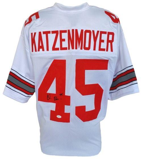 Andy Katzenmoyer Signed Custom White College Football Jersey JSA