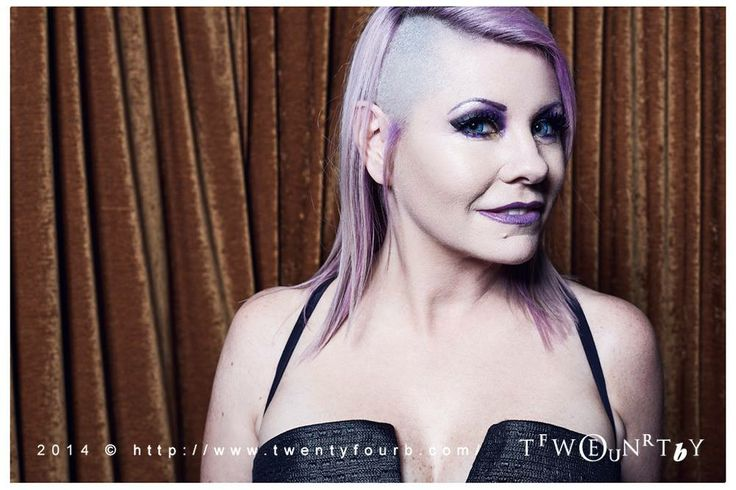 New look. Pale orchid hair with shaved side. Photo by Brent Leideritz.