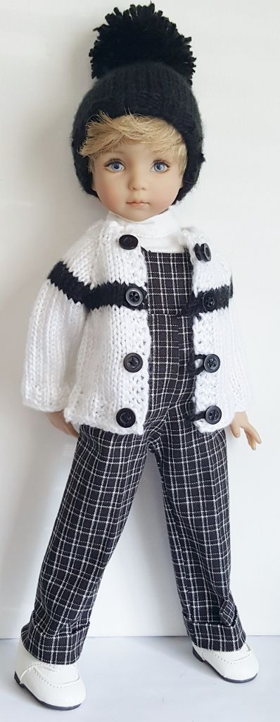SWEATER,OVERALLS,HAT,SHIRT&SHOES SET MADE FOR EFFNER…