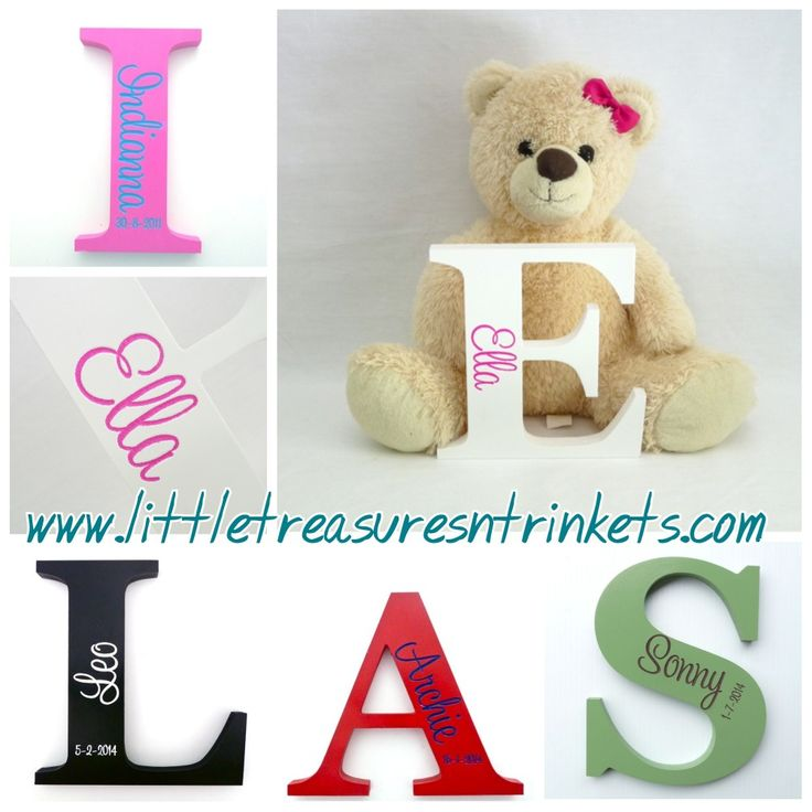 Looking for that special personalised gift?  Checkout these handmade and painted letters. #handmade #personalised #gift #decor #smallbusiness #littletreasures  http://www.littletreasuresntrinkets.com/listing/personalised-engraved-wooden-letters/