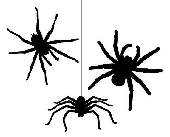 Scary Spider Wall Sticker Decals set (12 items), Vinyl Stickers