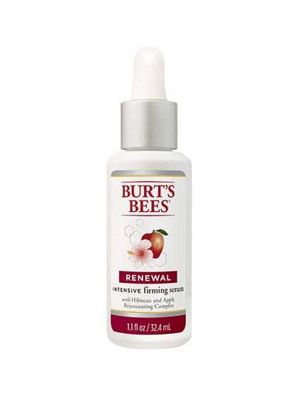 Burt's Bees Renewal Intensive Firming Serum We thought there was nothing we could love more than the lip balm from this brand...until we came across this guy. Natural ingredients—white hibiscus, apple, watermelon—are the key players, firming and hydrating skin, but it's worth using for the delicious, subtly fruity scent alone.