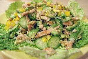 Салат из индейки с овощами