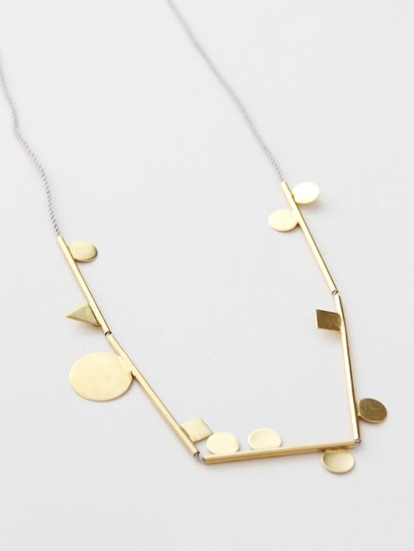 Samma Shapely String Thing IV Necklace - Brass « Pour Porter