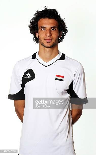 Mahmoud Eldin Alaa of the Egypt Men's Olympic Football Team at the Hilton Hotel on July 22 2012 in Cardiff Wales