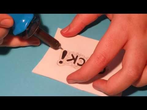 Tutorial: Sellos scrap con goma eva y pirógrafo