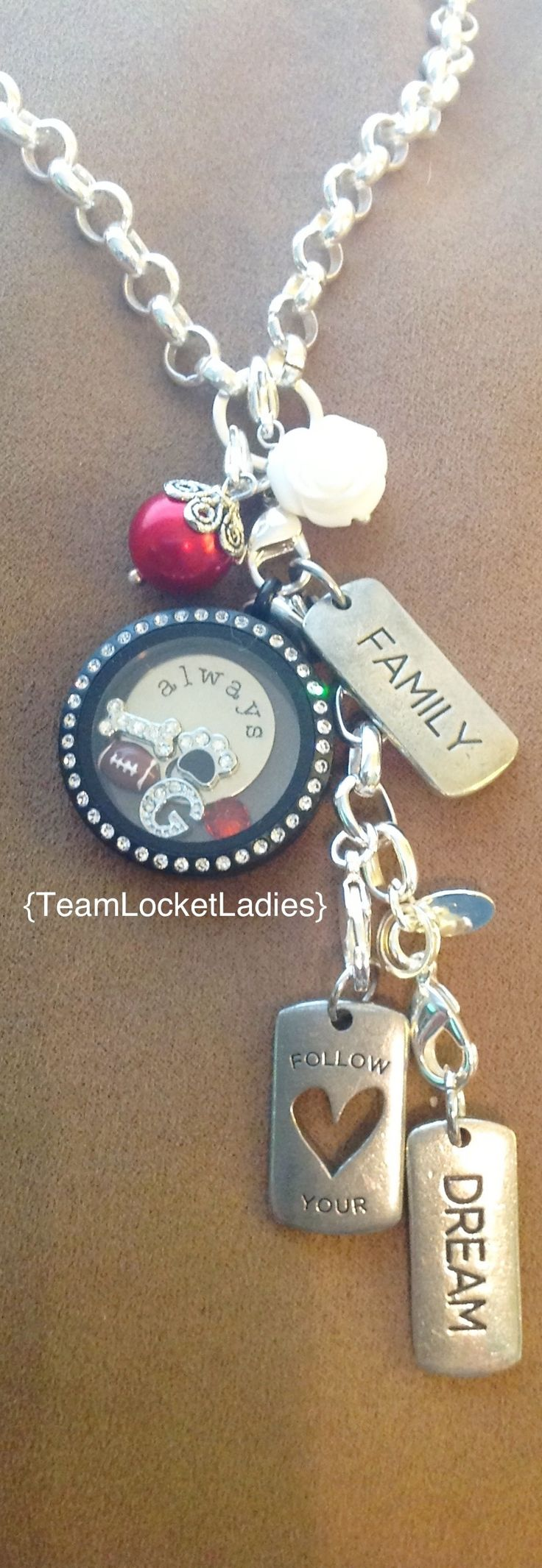 Love this Georgia bulldog style find me on Facebook to order your custom living locket. we can make one to represent YOUR school or team of choice!!!